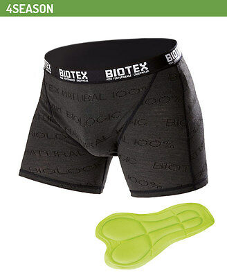 BIOTEX 155 Seamless compression cycling padded undershort boxer Large Black