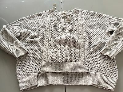Women's Grey Jumper Size M Will Fit 12 And 14