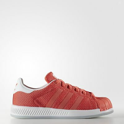 New adidas Originals Superstar Bounce Shoes BB0332 Kids' Orange Sneakers