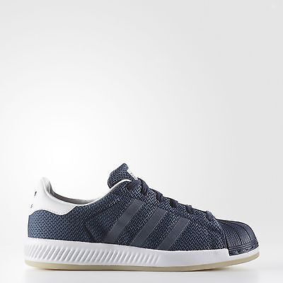 New adidas Originals Superstar Bounce Shoes BA7787 Kids' Blue Sneakers