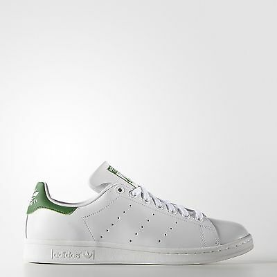 adidas Originals Men's Stan Smith Leather White/Green Athletic Sneakers