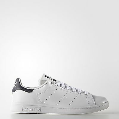 adidas Originals Men's Stan Smith Leather White/Navy Athletic Sneakers