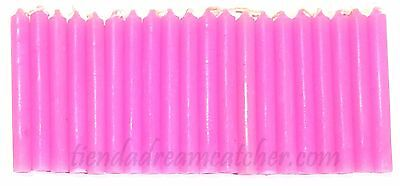 """LOT OF 20 PINK Colors Chime Spell Candles Mini 4"""" Pagan Wicca Altar Ritual"""