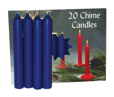 """LOT OF 20 BLUE Colors Chime Spell Candles Mini 4"""" Pagan Wicca Altar Ritual"""