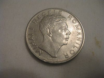 Romania 1943 100 Lei Coin, Mihai I Regele, Very Good Condition