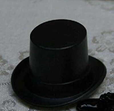 Dolls House Miniature 1:12th Scale Black Top Hat
