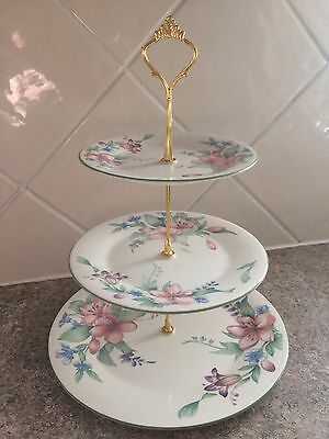 royal Doulton Carmel  3 Tier Cake Stand Afternoon Tea Plates
