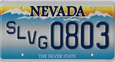 Authentic Nevada **salvage** License Plate #  0803  Mint Mint