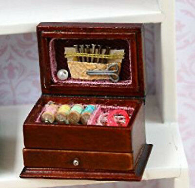 Dolls House Miniature 1:12th Scale Lovely Detailed Needlework Box