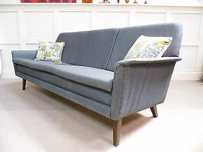 Stylish Vintage Retro Danish 3 Seater classic SOFA 50s 60s 70s lounge chic