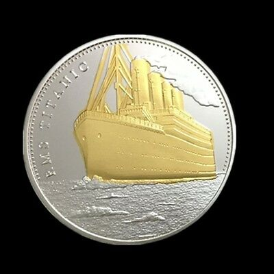 Titanic Maiden Voyage Ship Tragedy Commemorative Coin 1912 UK-US 1500 Lives Lost