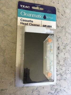 TEAC Cleanmatic QP-001 Wet Type Cassette Head Cleaner & CC-10 NEW Old Stock