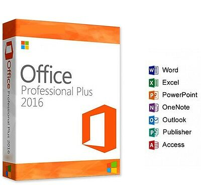 Microsoft Ms Office 2016 Professional Plus Product License Key & Download Link