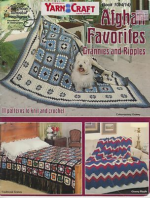 American School Of Needlework Book 1014 Afghan Favorites Grannies and Ripples