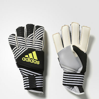 ADIDAS 2017 Men's ACE Trans Ultimate Soccer Gloves Black & White Size 10 NWT