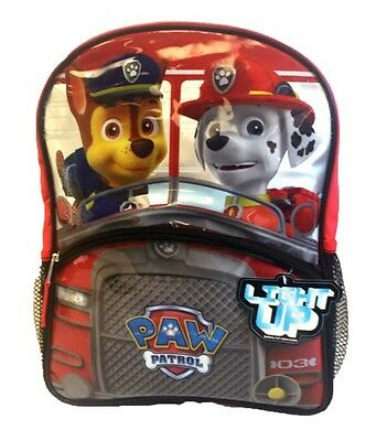 """Nickelodeon Light up LED Paw Patrol Driving Around 14"""" Backpack"""