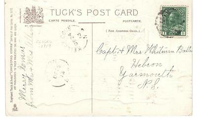 1913 Kelley Cove, N.S. Split Ring Cancel on Tuck's Christmas Greetings PPC