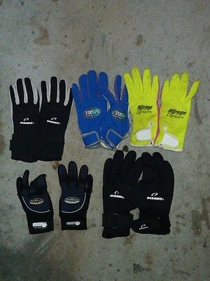 Collection of gloves for Scuba Diving