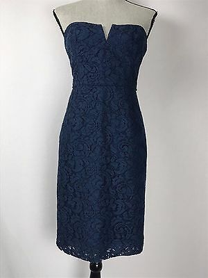 83a101446ce J Crew Cathleen Dress In Leavers Lace Acropolis Blue Size 8 New With Tags!