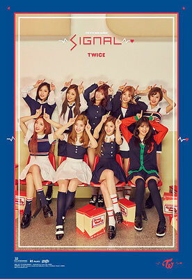 TWICE [SIGNAL] 4th Mini Album C Ver Original Official Bromide FOLDED POSTER ONLY