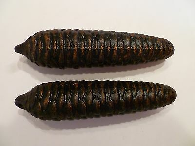 """Set of Antique German Clock Weights - 8 day, 7"""" Pinecone Shape - 2.8 lb each"""