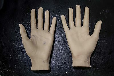 Pair of Female Silicone Mannequin Hands - WITH CASTING ISSUES - deep discount