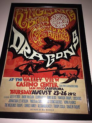 RARE Ringling Brothers And Barnum & Bailey Poster Dragons Only 16 Made
