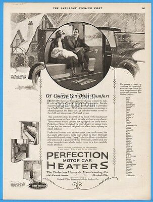 1922 Perfection Heater Co Cleveland OH Infant In Mothers Arms Car Print Ad