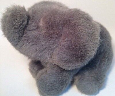 "DAKIN 1990 10"" Grey Elephant Plush Lucky Trunk Facing Upward Stuffed Animal"