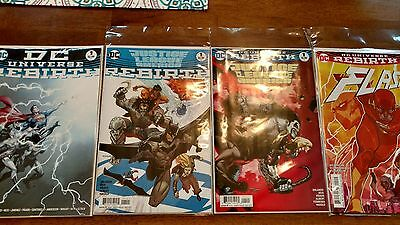 Dc Rebirth lot #1s JLA, Batman Flash