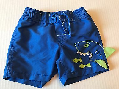 Baby Gap Boys Swim Trunks Shorts 6-12 months Blue and Green EUC