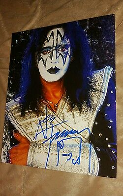 Ace Frehley Kiss Signed Love Gun Reunion Tour Costume 8X10 Glossy Photo Psa Dna