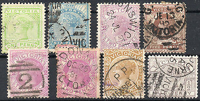 Victoria 8 state stamps Collection