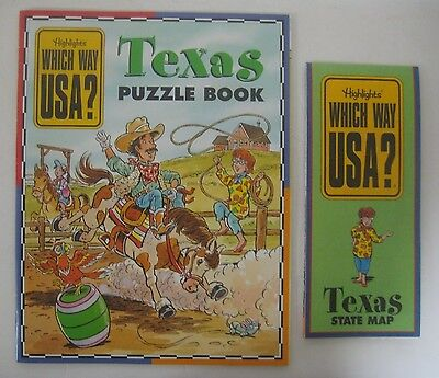 Highlights TEXAS Which Way USA Puzzle Book & Map TX State Travel Learning