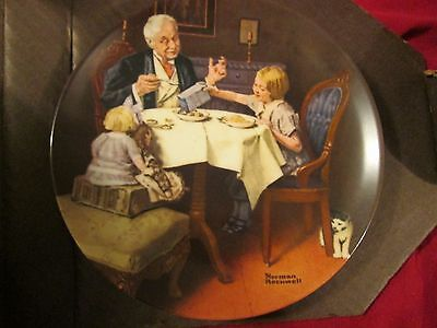 Bradford Exchange Norman Rockwell The Gourmet Collector Plate Coa New