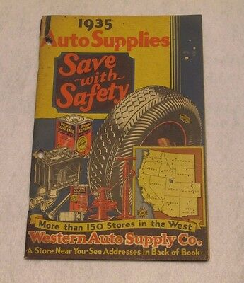 Rare 1935 Western Auto Supply Co. Price Catalog !!!!!!  96 Pages