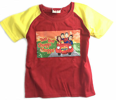 New New Boys Children Kids Red The Wiggles Summer Top T-Shirt New Style-1