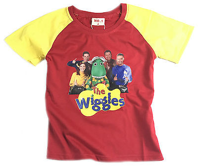 New New Boys Children Kids Red The Wiggles Summer Top T-Shirt New Style-2
