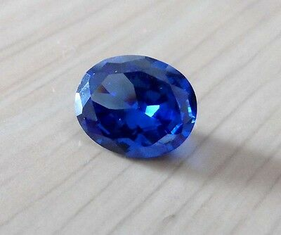 10x12mm AAA Blue Natural Zircon Gems 6.86ct Oval Faceted Cut VVS Loose Gemstone