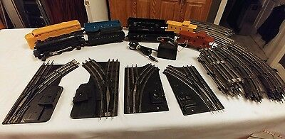 Vintage Lot of Lionel Trains Locomotive, Freight Cars, Tracks, Power Supply