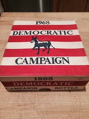Vintage Wheaton 1968 Democratic Campaign Bottle - HHH & Muskie Decanter in Box