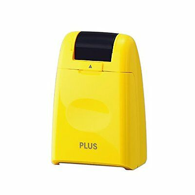 PLUS IS-500CM-B YL Kespon Guard Your Id Roller Stamp Yellow F/S from JAPAN