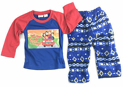New Boys Blue The Wiggles Tshirt Pants Winter Pj Pyjamas Sleepwear Pjs