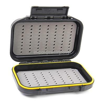 Waterproof Airtight Fly Fishing Lure Bait Jigs Hook Tackle Storage Box Case