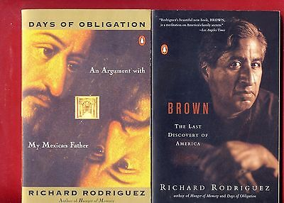 2 Richard Rodríguez books: Days of Obligation + Brown -Free Shipping!