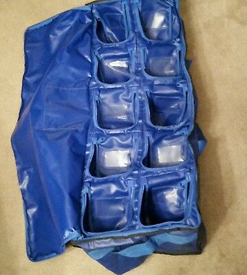 2014 Used Kansas City Royals Shoe And Glove Clubhouse Bag,38 Inch's By 16 Inch's
