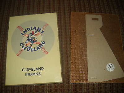 Vintage 1970's Cleveland Indians 5 By 7 Plaque,new Old Stock