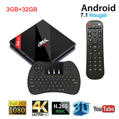 H96 PRO Android 7.1 TV Box S912 3G/32G 4K Media Player with Wireless Keyboard
