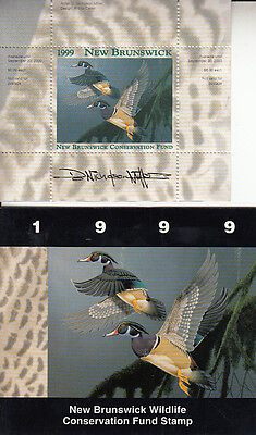 Canada New Brunswick MNH Conservation SIGNED 1999 Van Dam NBW6a   Value $ 23.00