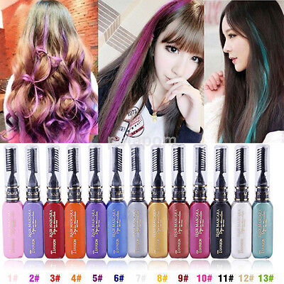 Hot Temporary Hair Dye Mascara Hair Chalk Pen Disposable Hair Salon Supplies US